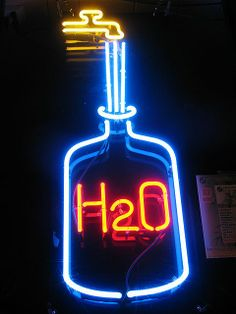 H2O NEON SIGN ๑෴MustBaSign෴๑