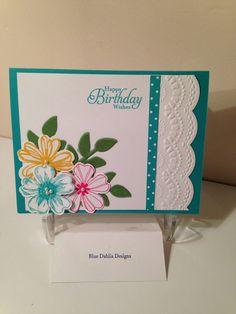 Blue Dahlia Designs (birthday cards for friends couple) Birthday Cards For Friends, Handmade Birthday Cards, Happy Birthday Cards, Greeting Cards Handmade, Scrapbooking, Scrapbook Cards, Embossed Cards, Paper Cards, Diy Cards