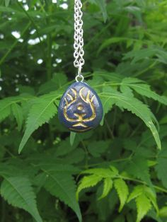 Inspired by the Studio Ghibli film, Castle In The Sky, Sheetas Laputa stone necklace is handmade from polymer clay and handpainted. The pendant is