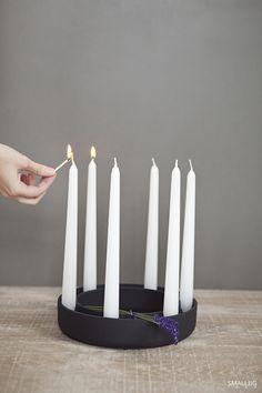 © smallbigidea.com black Moooi candlestick and lavender.