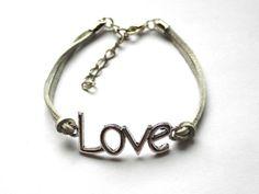 Strap charm bracelet from Especially for You by pl.dawanda.com/shop/slicznieilirycznie #DaWanda #bizuteria #jewellery #jewelry #Schmuck #bransoletka #Armband #bracelet #handmade #strap #rzemienie #rzemyki #riemen #charm