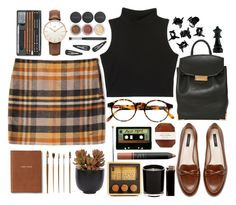 """""""school gal"""" by kirvil ❤ liked on Polyvore featuring Zara, H&M, François Pinton, Monica Rich Kosann, Tommy Hilfiger, Areaware, Bare Escentuals, Lux-Art Silks, Topshop and Pelle"""