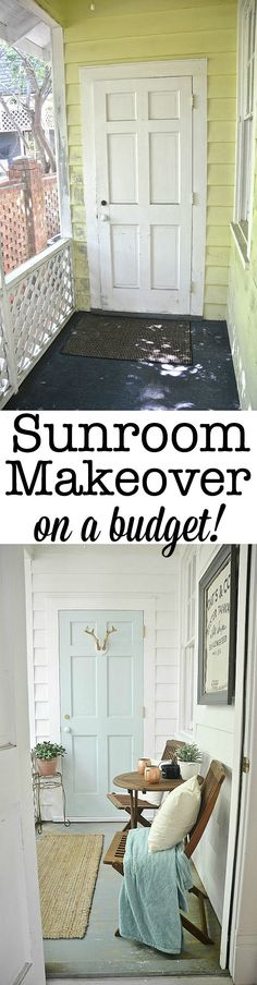 Sunroom makeover for