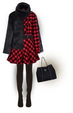 """""""Red and Black"""" by sherry7411 ❤ liked on Polyvore featuring Chicwish, Nicholas Kirkwood, RED Valentino, Peter Lang, Roxy, Helmut Lang, OverTheKneeBoots and winterfashion"""