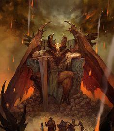 ArtStation - The book of Fiends, Svetoslav Petrov Fantasy Artwork, Dark Fantasy Art, Sci Fi Fantasy, Dark Art, Dungeons And Dragons 5, Dark Evil, Demon Art, Unicorn Art, Unusual Art