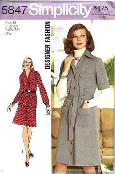 Simplicity 5847 Designer Fashion Pattern, Misses Dress, Top And Skirt, Size 18, Bust 40, UNCUT by DawnsDesignBoutique on Etsy