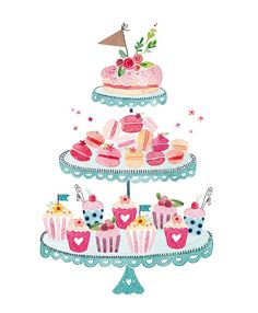 Greeting Cards - Birthday Cards - Felicity French Illustration - Happy New Year 2019 Cupcake Illustration, French Illustration, Birthday Cake Illustration, Birthday Greeting Cards, Birthday Greetings, Birthday Wishes, Happy Birthday, Friend Birthday, Foto Poster