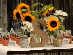 Love the idea of giving seeds and a mini-flower pot as a #partyfavor. Especially for this farmers market-themed party!