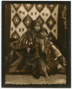 Superb Navajo Children photograph by William Pennington of Durango Colorado c