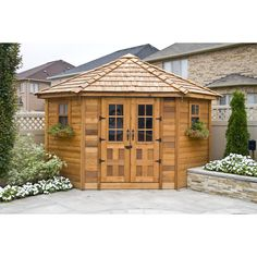 Outdoor Living Today 9 Ft. W x 9 Ft. D Wood Garden Shed