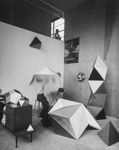 Charles Eames playing with the Toy