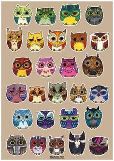 Owls - love the emo one in the bottom right corner