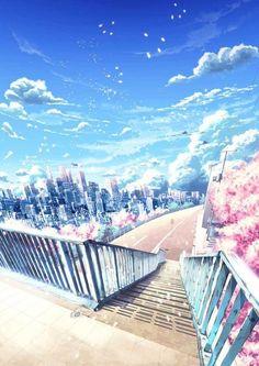 grafika anime, art, and scenery