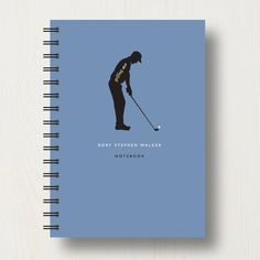 Designed Personalised Golf Lover's Journal Or Notebook ($20) ❤ liked on Polyvore featuring home, home decor en stationery