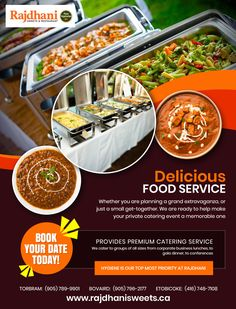 Looking for the Best Indian Food Catering Services in Brampton, then Rajdhani Sweets & Restaurant can be the right choice Wedding Caterers in Brampton for you. Party Catering, Wedding Catering, Indian Food Catering, Date Today, Restaurant Offers, Catering Services, Food Service, Party Wedding, Indian Food Recipes