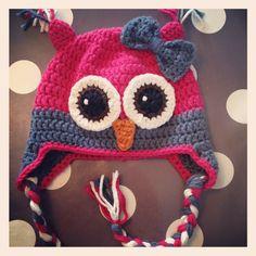 Owl hat Ise ~ made by VanSjoukje© ~ crochet ~ girl ~ haken ~ mutsje ~ meisje