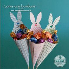 Como fazer cones com bombons- Passo a passo com fotos - How to make cones with chocolate candy- DIY tutorial  - Madame Criativa - www.madamecriativa.com.br