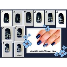 AmericaNails Top Coat + Nail Art Tutorial #nails #nailart #tutorial #flowers