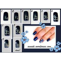 AmericaNails Top Coat + Nail Art Tutorial #nails #nailart #tutorial #flowers