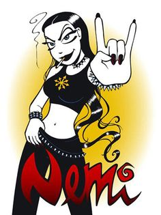... Nemi Montoya - cynical and romantic black metal girl