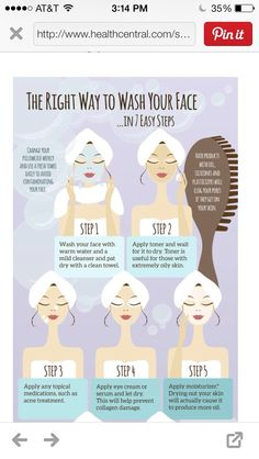 The RIGHT Way To Wash Your Face!