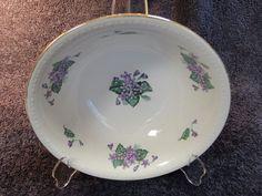 "Homer Laughlin Eggshell Georgian Round Serving Bowl Violets G3535 8 1/2"" RARE! in Pottery & Glass, Pottery & China, China & Dinnerware | eBay"