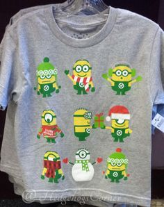 despicable me 9 winter minions youth t shirt universal holiday christmas new - Minion Christmas Shirt