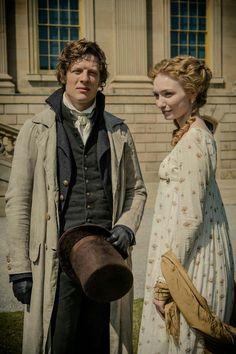James Norton as Henry Alveston & Eleanor Tomlison as Georgiana Darcy in ''Death Comes to Pemberley'' (2013) BBC miniseries
