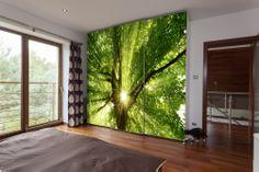 Jak zatrzymać wiosnę na dłużej? Słonecznie zielona szafa z naklejką od http://www.fototapeta24.pl/ jest super rozwiązaniem!