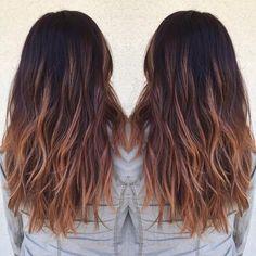 Beautiful #balayage by @hairapydoll!  Base: #KenraColor 3N + 4B + 20vol.  Balayage: Lightener + 20vol.  Toned: 8BrM + 9vol.