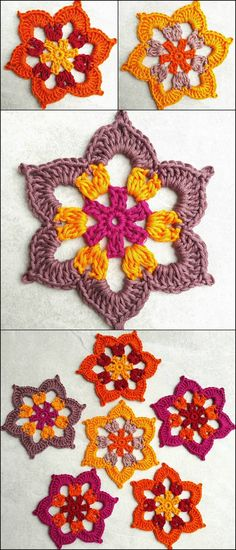 Modish And Beautiful Crochet Pattern and Designs - diy crafty post_tags] Beau Crochet, Crochet Diy, Crochet Wool, Crochet Motifs, Crochet Toys Patterns, Crochet Designs, Crochet Stitches, Knitting Patterns, Beautiful Crochet