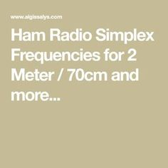 Seems 2m amateur simplex frequencies interesting
