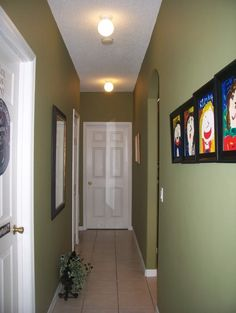 narrow hallway ideas | with paneled doors and it doesn't look over done