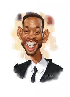Caricatura del gran actor Will Smith, realizada por el artista Amir Taqi.     Caricatura de Will Sm...