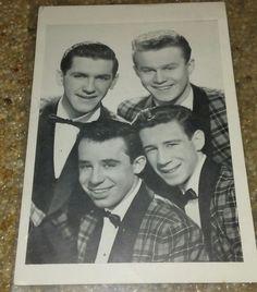 THE FOUR LADS Press Photo Autographed all Four 1950-1960s Male Quartet Canada