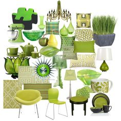 """""""GREEN HOME ACCESSORIES"""" by sdkalina on Polyvore"""