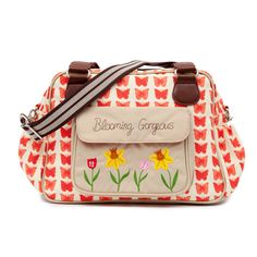 Blooming Gorgeous Baby Bag Red Butterflies #pinklining