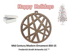 850-15 Mid Century Modern Ornament by FredArndtArtworks on Etsy