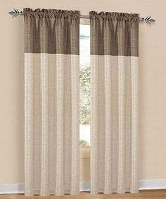 Take a look at this Mocha & Champaign Two-Tone Avanel Curtain Panel - Set of Two on zulily today!