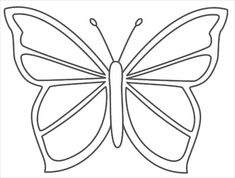 Perspective Large Butterfly Template Image Detail For Craft Wood Scroll Saw Pattern Crafts Butterfly Stencil, Butterfly Template, Butterfly Crafts, Butterfly Pattern, Crown Template, Heart Template, Flower Template, Printable Butterfly, Banner Template