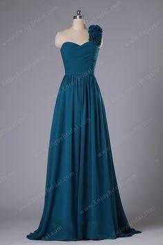 A-line Sweetheart Sleeveless Floor-length Chiffon Prom Dress$119.00
