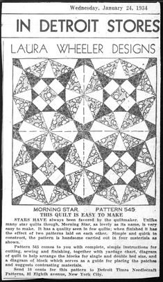 The Quilt Index I just love this site. You can look for hours and pin every one. Link to first page: http://www.quiltindex.org/ephemerasearch_results.php?currPage=1&sortby=Date%204&title=&author=&ephemeraType=Any&ephemeraTypeText=Any&idNum=&period=Any&start_year=&end_year=&qprojects=Any&collection=Any&submit=&display_type=Grid