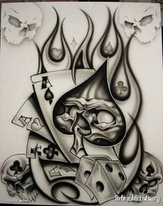 50 Best Ideas and Meanings About Playing Cards Tattoos # Gambling Tattoo # Gambling tattoo ideas # Gambling tattoo ideas The post 50 Best Ideas and Meanings About Playing Cards Tattoos appeared first on Woman Casual - Drawing Ideas Card Tattoo Designs, Tattoo Design Drawings, Skull Tattoo Design, Skull Tattoos, Tattoo Sketches, Body Art Tattoos, New Tattoos, Hand Tattoos, Sleeve Tattoos
