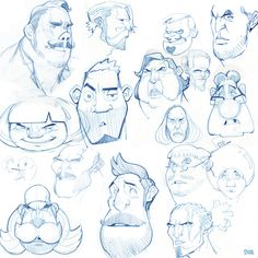 "soonsang works - free drawing""face thumbnail sketch"" on Behance"