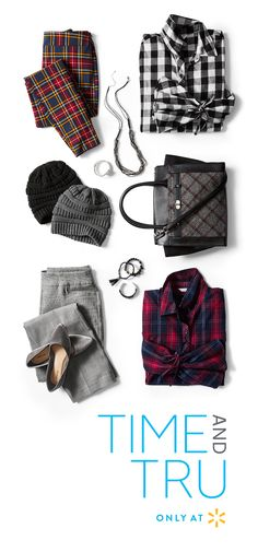 5620bd29f Feel pretty in plaid all winter long with cute outfits from Time and Tru. A