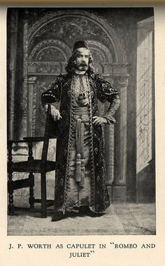 "Jean-Philippe Worth in Capulet costume  From the book ""A Century of Fashion"" by Jean-Philippe Worth, 1928."