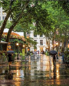 expecting rain this week. Moving To Texas, Bryant Park, When It Rains, Gotham City, Places To Travel, New York City, Shots, In This Moment, Awesome