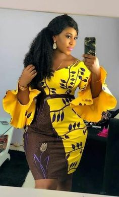 ANKARA STYLES 2019 FOR DIVAS TO TRY OUT - - View the best African fashion styles to create your own fabulous latest ankara styles. Get access to every asoebi and Ankara styles trending now. African Fashion Ankara, Latest African Fashion Dresses, African Dresses For Women, African Print Dresses, African Print Fashion, Africa Fashion, African Attire, African Wear, African Women Fashion