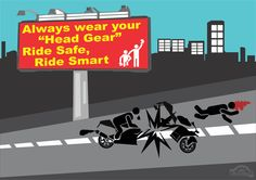 "MM | Drive Smart  In India 9 out of 10 people die due to not wearing helmets.  Always wear your ""Safety Gears""  Ride Safe , Ride Smart.  #DriveSmart #SafetyGears #MotorMistri"