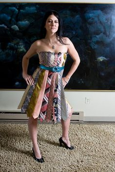 A dress made out of ties!
